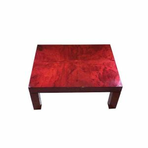 COFFE TABLE ALDO TURA COFFEE TABLE YEARS 70 IN RED PARCHMENT