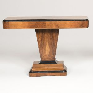 ART DECO CONSOLE TABLE IN WALNUT