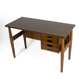 DESK 60s IN WOOD AND FORMICA, PRODUCTION SCHIROLLI MANTOVA