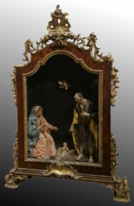 Nativity in the 17th century scarab