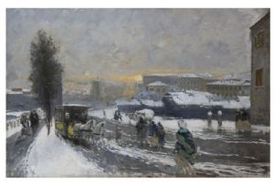 Moses White Snow in Mailand, 1895