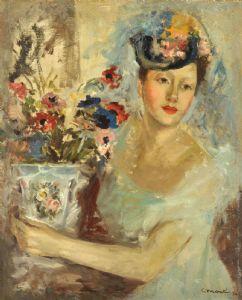 有花瓶的女孩,1954年