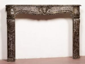 Antique marble fireplace. 160x117h cm. Louis XV era.