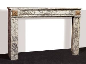 Antique marble fireplace. cm 168x113h. Period 1800.