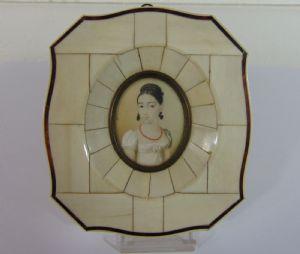 Miniature painted on ivory, '800
