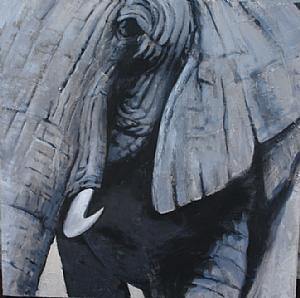 Pintura Contemporánea Elephant