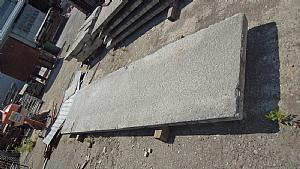balcone in pietra di luserna antico mt.4 x 97x7