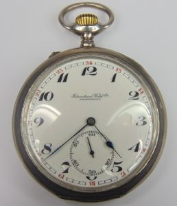 Silver pocket watch International Watch Co. late '800