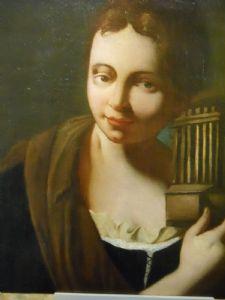 maestro francese 600/700 ' Dama con gabbietta per uccellino'