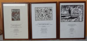 group of three prints