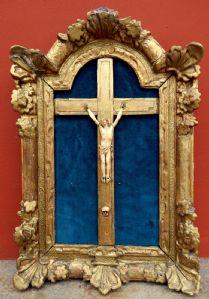 Cristo in avorio entro cornice