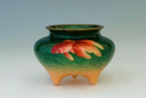 Cloisonnè Ginbari gold fish