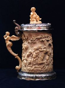 Tankard with ivory and silver