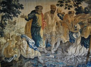 Tapestry of the manufactory of Brussels, Moses leaves the Red Sea, cm. 280 x 360