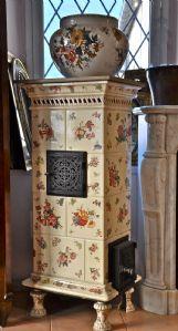 керамическая плита кремовый фон и цветы в сгустков Sarreguemines