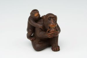 Netsuke scimmie Masanao