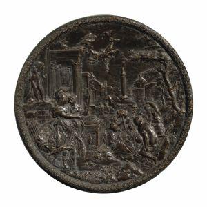 Hans Jacob Bayr, Atenea, Bajorrelieve en bronce antiguo, primeras décadas del siglo XVII.