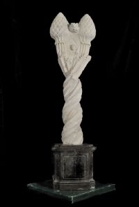 Marble sculpture with double artichoke, Rome, Renaissance period.