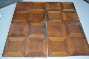 Antique wood tiles