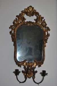 Venetian frame with mercury mirror