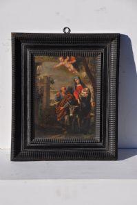 """Interesante pintura dentro de un importante marco contemporáneo """"Vuelo a Egipto"""""""