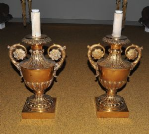 Pair of vases Candlestick-gold metal