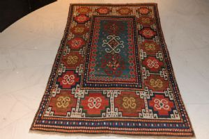 Moghan carpet, 19th century, highly antique item, approx. 203 x 120 cm