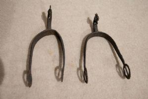 2 Eisensporen aus dem 17. Jahrhundert