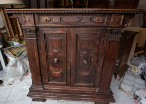 Early 19th century Renaissance style walnut sideboard with splendid patina