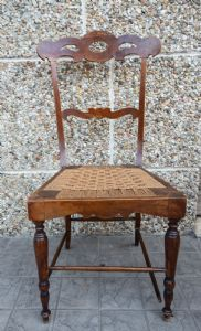 Carved 19th century chair in walnut