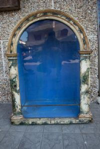 Antique painted wooden showcase '700