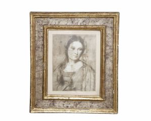 女子肖像在上漆框架硕士翁布里亚 - 马尔凯二段十七