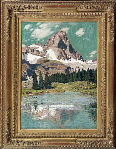 Cesare Maggi (1881-1961) Le Matterhorn de Lago Blu -1923