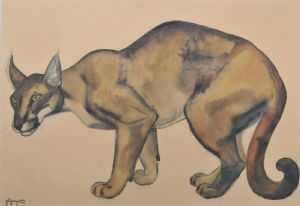 Georges Lucien GUYOT (1885 - 1973) A Lynx