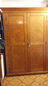 armadio carlox legno acero