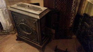 estufa de hierro fundido