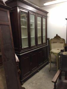 Libreria lucchese 213xp52xh263 in ciliegio epoc 1800