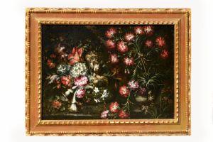 Ainda vida pintada de flores