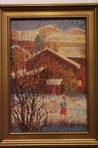 Huile sur toile Peinture à l'huile sur toile « 900 avec une signature signée