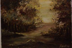Dipinto olio su tela oil on canvas painting paesaggio landscape signed firmato