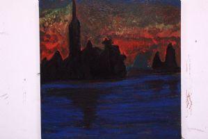 Olio su tela copia di Monet raffigurante Parlamento inglese painting oil canvas