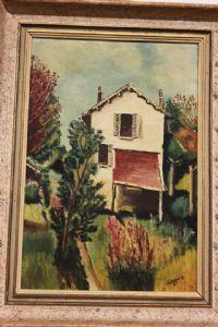 Dipinto olio su tela raffigurante piccolo paesaggio painting oil on canvas