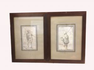 Coppia di disegni XVII