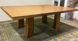 80 YEARS TABLE IN ZEBRANO WOOD