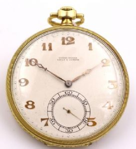 Pocket Watch Ulysse Nardin in 18k gold about 1940