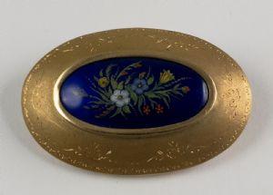 gold enamel brooch, 50s