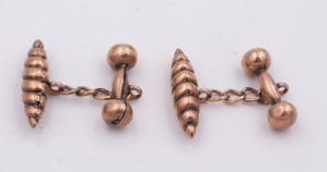 Cufflinks in rose gold early 20th century