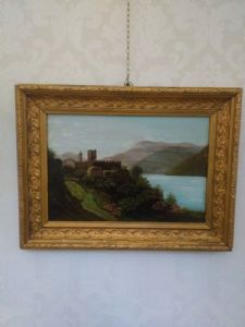"Painting, ""Landscape with castle"""