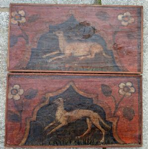 Coppia di predelle bresciane dipinte