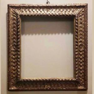 Carved and gilded wooden frame